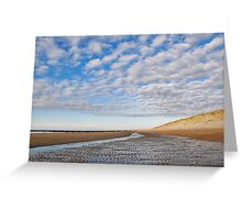 Wide and empty beach Greeting Card