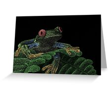 Tree Frog (Colorized) Greeting Card
