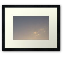 Brisbane Sky - Looking Up - January 15 2011 Framed Print