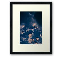 Brisbane Sky - Looking Up - January 16 2011 Framed Print