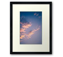 Brisbane Sky - Looking Up - January 17 2011 Framed Print