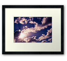 Brisbane Sky - Looking Up - January 21 2011 Framed Print