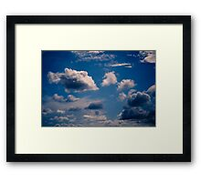 Brisbane Sky - Looking Up - January 20 2011 Framed Print