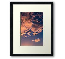 Brisbane Sky - Looking Up - January 23 2011 Framed Print