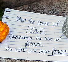 Writing The Power of Love by Owed To Nature