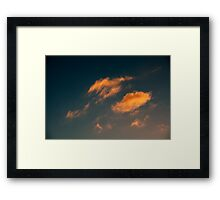 Brisbane Sky - Looking Up - January 26 2011 Framed Print