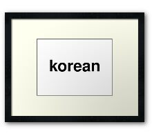 korean Framed Print