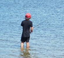 Teach a boy how to fish by Wilhelmina