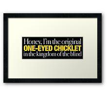 Buffy - Original one-eyed chicklet Framed Print