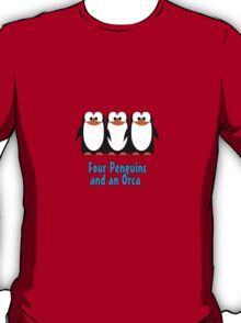 Four Penguins .... and an orca T-Shirt
