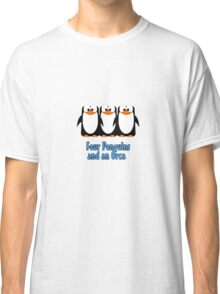 Four Penguins .... and an orca Classic T-Shirt