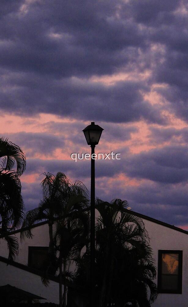 Purple night sunset. by queenxtc