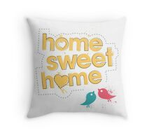 Home Sweet Home - Yellow Throw Pillow