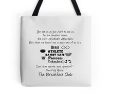 Sincerely Yours the Breakfast Club minimalist |Typography Tote Bag