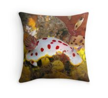 Halifax Strawberry and Cream Nudi  Throw Pillow