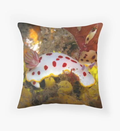 Halifax Strawberry and Cream Nudi  Throw Pillow