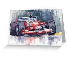 Panasonic Toyota TF102 F1 2002 Mika Salo Greeting Card