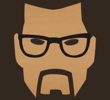 Half Life - Gordon Freeman Face (Minimalism) by oddworldcrash