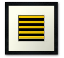 Bee pattern black and yellow stripes Framed Print