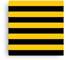 Bee pattern black and yellow stripes Canvas Print