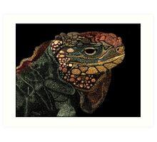 Andros Iguana (Colorized) Art Print