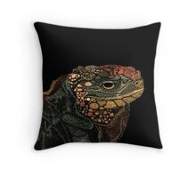 Andros Iguana (Colorized) Throw Pillow
