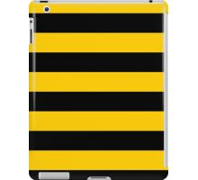 Bee pattern black and yellow stripes iPad Case/Skin