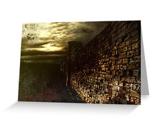 Tortured Walls Greeting Card