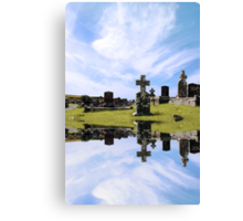 irish graveyard Canvas Print