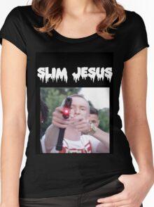 slim jesus Women's Fitted Scoop T-Shirt