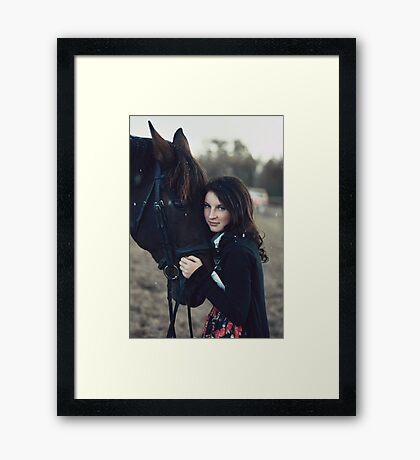 A Girl with a Horse II Framed Print