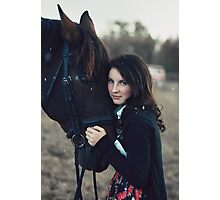 A Girl with a Horse II Photographic Print