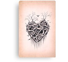 Locked in the Heart Canvas Print