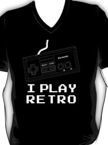 I Play Retro - Nintendo Joystick White T-Shirt