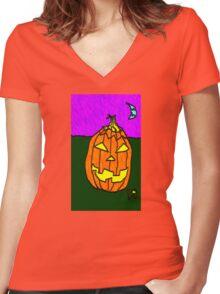 """Jacky-O"" by Richard F. Yates Women's Fitted V-Neck T-Shirt"