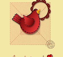 Applique Inspired Greeting  by SHickman