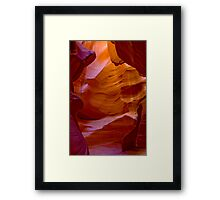 Antelope Canyon Carved Framed Print