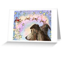 Sleigh flight Greeting Card