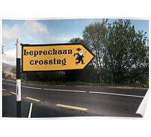 leprechaun sign Poster