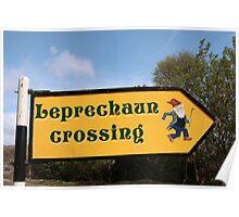 leprechaun sign post Poster