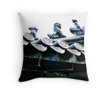 Temple in the sky Throw Pillow