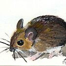 Postcard Fieldmouse by Flynnthecat