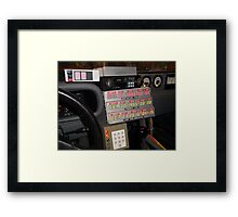 Back To The Future Time Display Framed Print