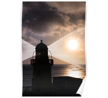 lighthouse beam Poster