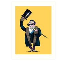 Gentleman with top hat Art Print
