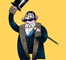Gentleman with top hat by WellingtonDrawe