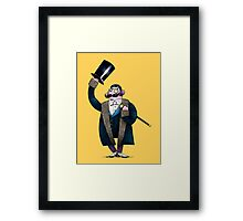Gentleman with top hat Framed Print