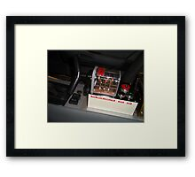 Back To The Future Time Circuit Toggle Switch Framed Print
