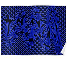 Black And Blue Abstract Poster