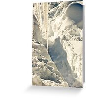 Icicles and Trenches Greeting Card
